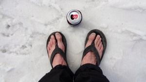 flip-flops, snow and beer
